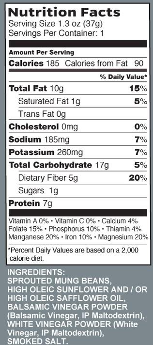 balsamic nutrition label