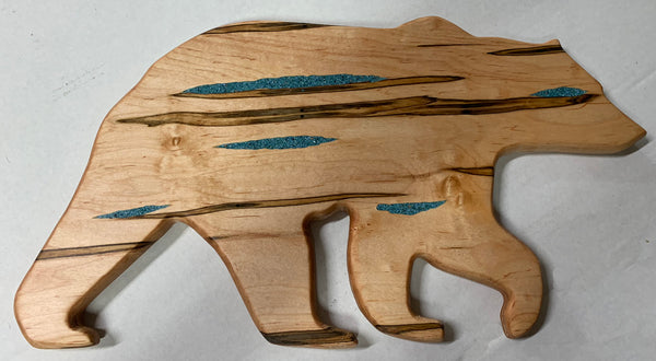 Bear Serving Board w/turquoise