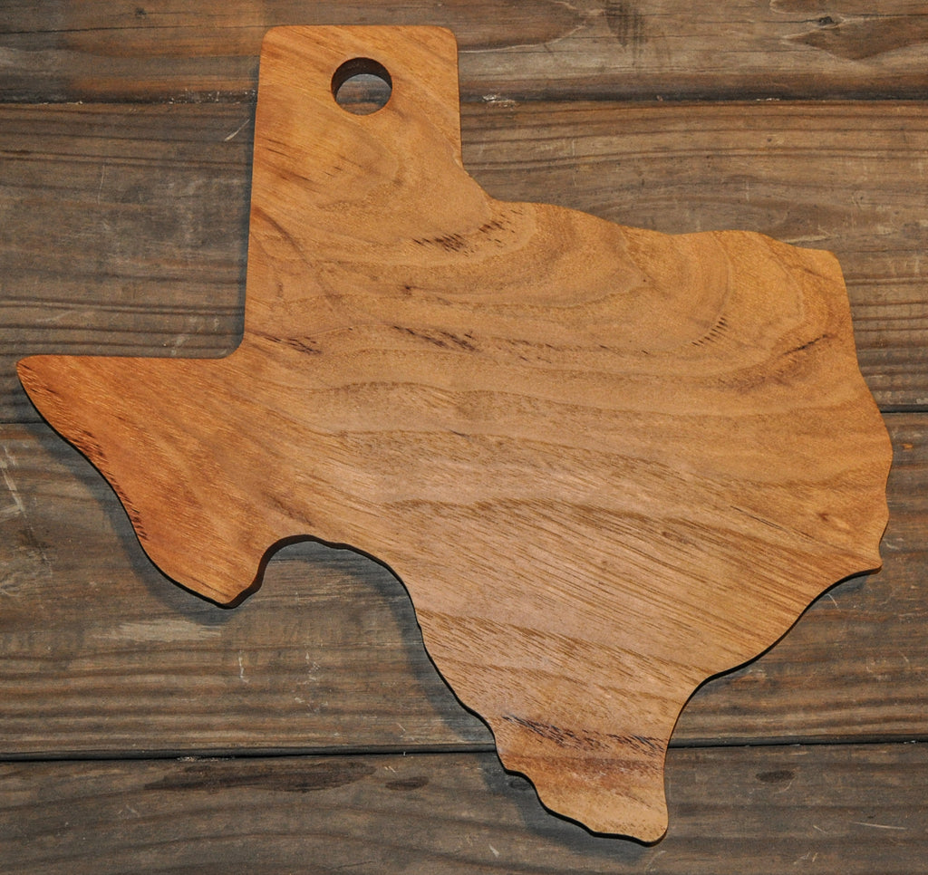 147. Texas Shaped, Pecan Wood Serving Board