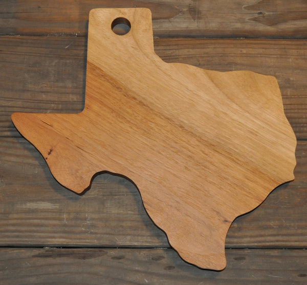 148. Texas Shaped, Pecan Wood Serving Board