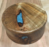 135. Ambrosia Maple Bowl with Turquoise Inlace