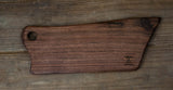 303. Small Black Walnut Wood Cheese Board