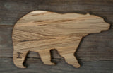297. Bear Shaped, Ambrosia Maple Cutting Board