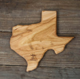 312. Small Texas Shaped, Cherry Cutting Board