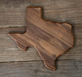 313. Small Texas Shaped, Walnut Cutting Board