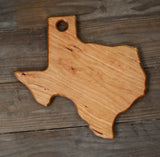 301. Texas Shaped, Cherry Cutting Board