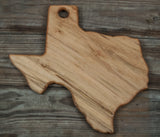 179. Texas Shaped, Ambrosia Maple Wood Serving Board