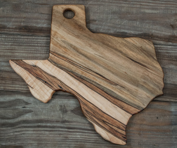 182. Texas Shaped, Ambrosia Maple Wood Serving Board