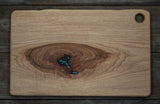 231. Pecan Cutting Board with Turquoise Inlay
