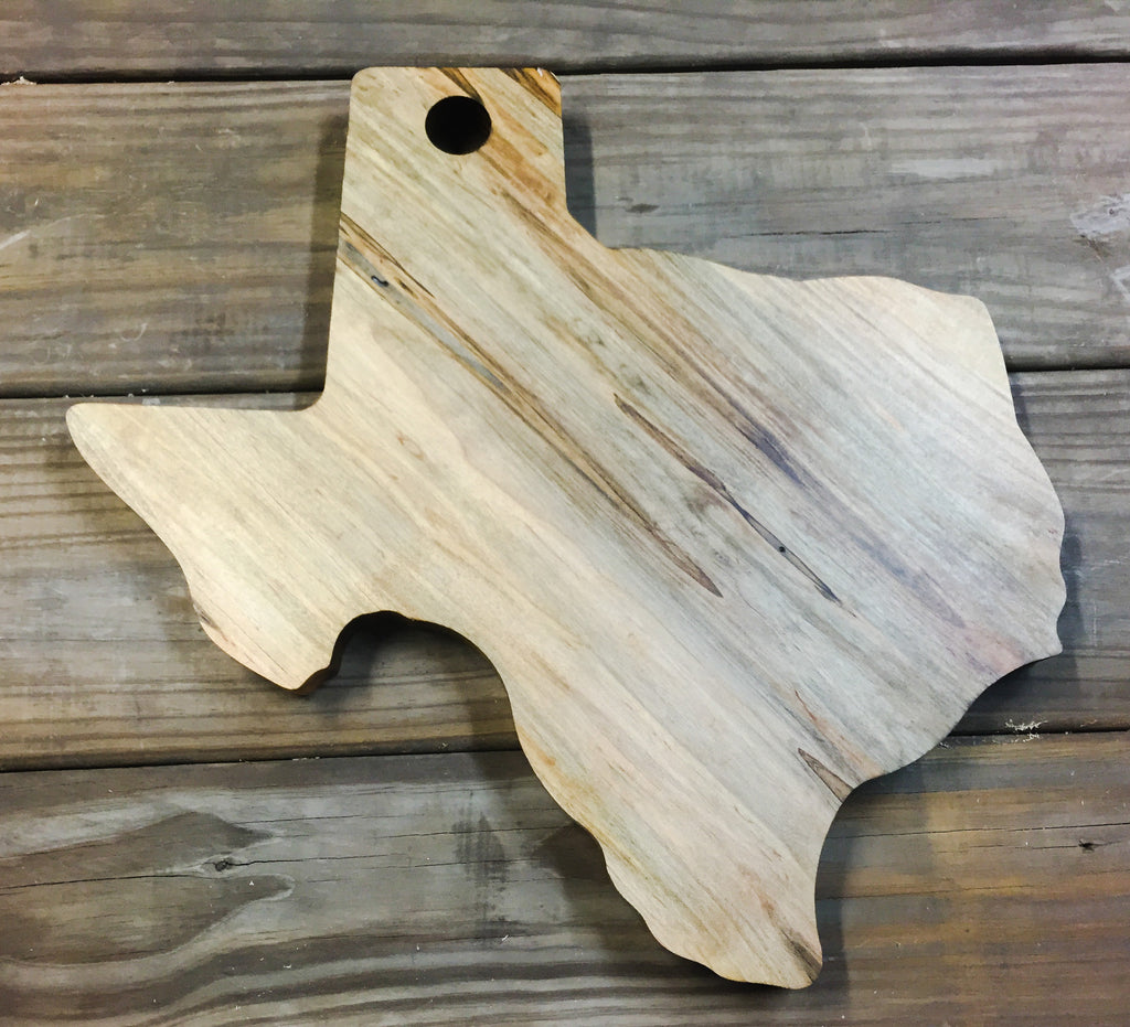 140. Texas Shaped, Ambrosia Maple Wood Serving Board