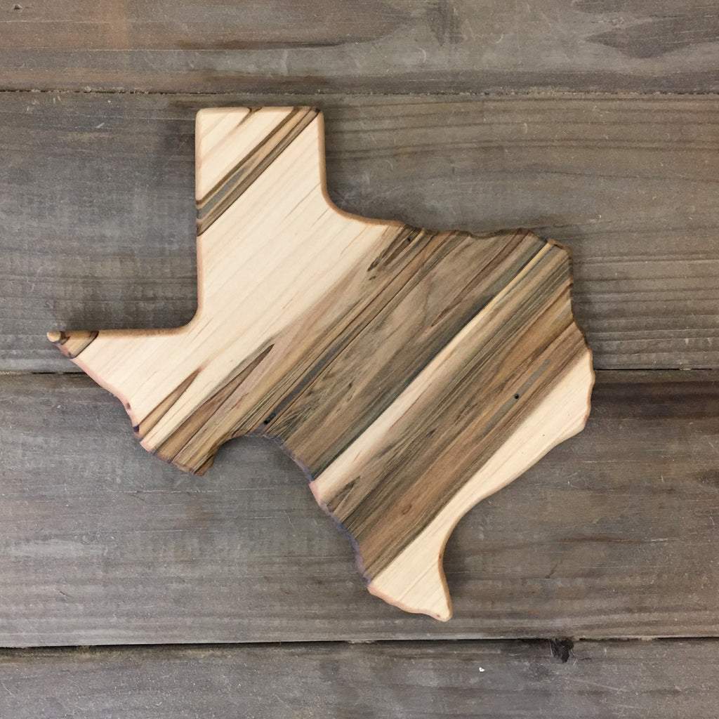 317. Small Texas Shaped, Ambrosia Maple Cutting Board