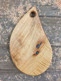 351. Teardrop Shaped Serving Board with Turquoise