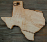 174. Texas Shaped, Ambrosia Maple Wood Serving Board