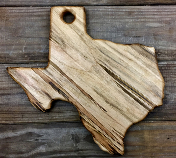 193. Texas Shaped, Ambrosia Maple Wood Serving Board