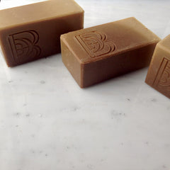 Breakfast Bar Handmade Soap Natural Brown Dot Beauty