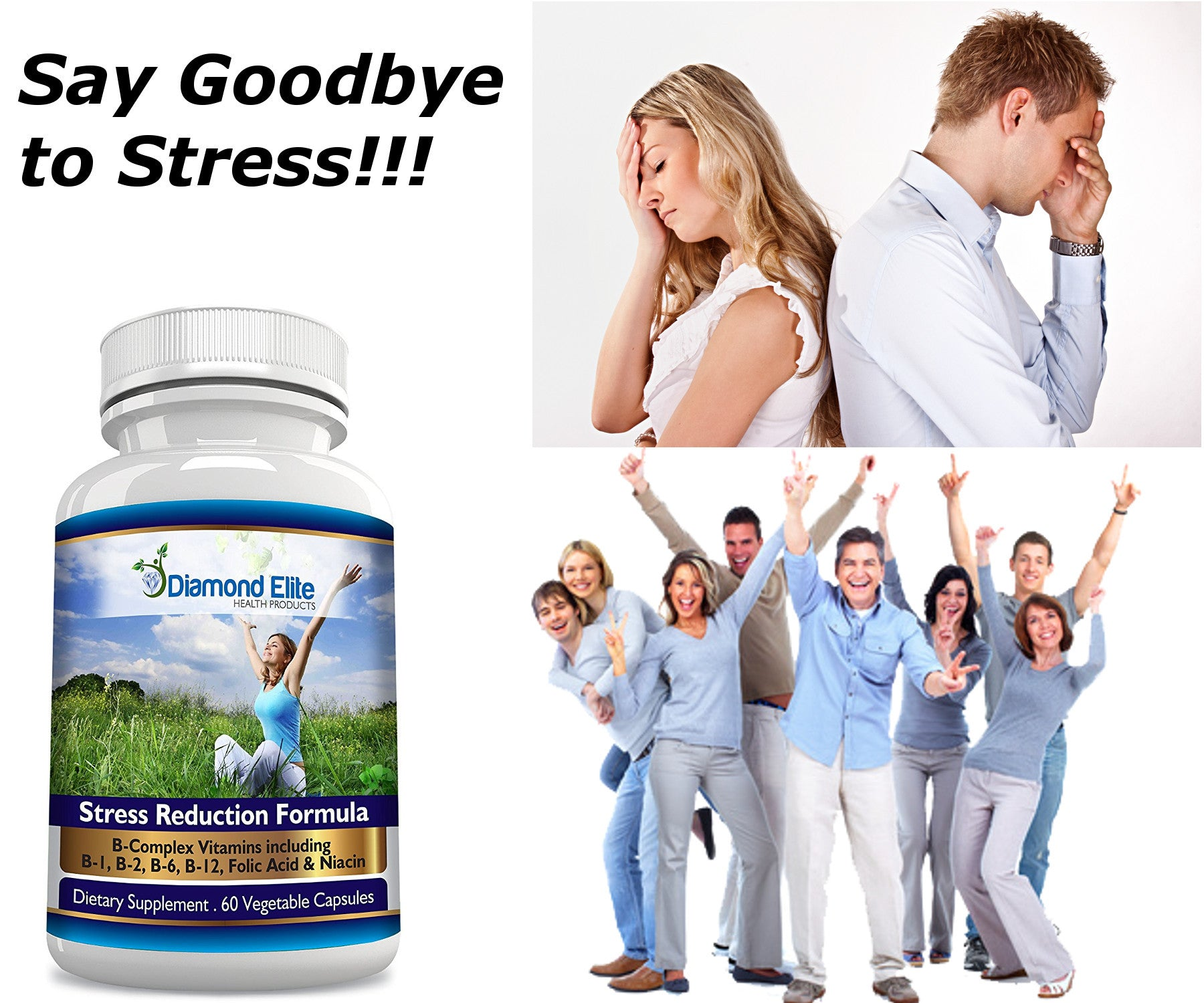Powerful STRESS RELIEF Supplement - Natural Fast Acting ANXIETY RELIEF and  SLEEP AID - 100% MONEY BACK GUARANTEE!