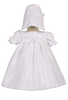 Floral Lace Tulle Overlay Christening Dress Baby Girls - MELISSA