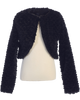 Black Faux Fur Girls Bolero Jacket for Occasion Wear (1109)