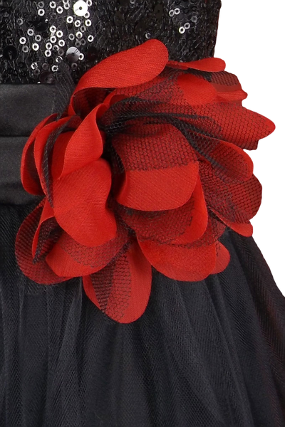 RED/BLACK - Flower Pin FL003