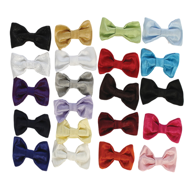 Poly Silk Solid Boys Clip-on Bow Tie in Assorted Colors  BTIE