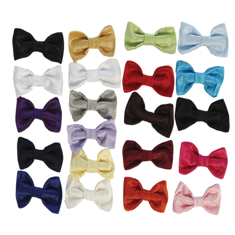 Poly Silk Clip on Bow Tie in Choice from 21 Colors Boys (BTIES)