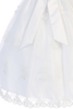Floral Appliques on Organza First Holy Communion Dress (SP982)