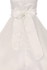 Girls White Satin Full A-Line First Holy Communion Dress w. Pearl Trim KD386