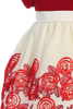 Red Velvet, Ivory Tulle & Ribbons Girls Holiday Dress (C989)