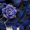 NAVY BLUE Flower Petal Set