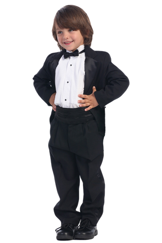 Dinner Jacket Single Button Tuxedo with Cummerbund Boys (7530)