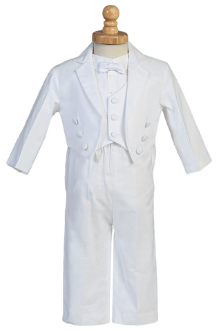 Baby Boys Double Breasted Tailcoat Christening Tuxedo w. Pique Vest  Jeffrey