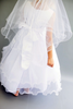 Satin, Lace & Tiered Tulle First Holy Communion Dress White or Ivory (198)
