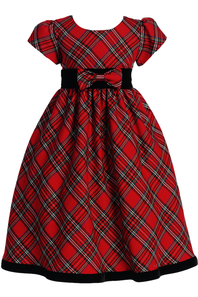 Red Amp Green Plaid Christmas Holiday Dress With Black