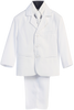 Boys White 5pc Dress Suit w. 3-Button Jacket 3710