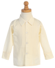 Tuxedo Pleated Shirt Long Sleeve White or Ivory Boys (820)
