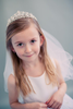 Crystal Flowers & Rhinestones Crown Veil Holy Communion (Veil017)