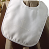 Screened Cross Satin Large Handmade Christening Bib Boys (2MSBXB15)