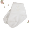 Button Decorated White Nylon Dress Socks Infant Boys (WBSOCK)