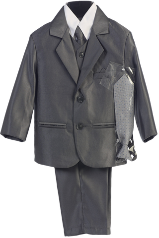 Pewter Grey Metallic 6 Pc Formal Dress Suit Boys (3800)