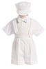 White Suspender Shorts 4 Pc Spring Occasion Outfit Baby & Toddler Boys (850)
