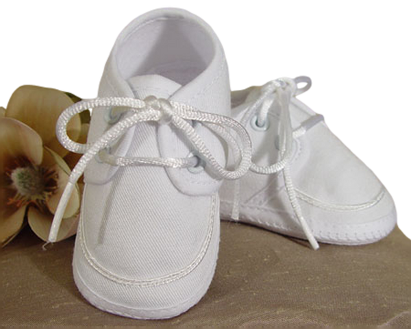 Baby Boys White Oxford Gabardine Shoe 5GBBAS