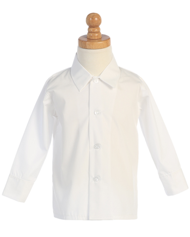 Boys White Long Sleeve Button Down Dress Shirt  810