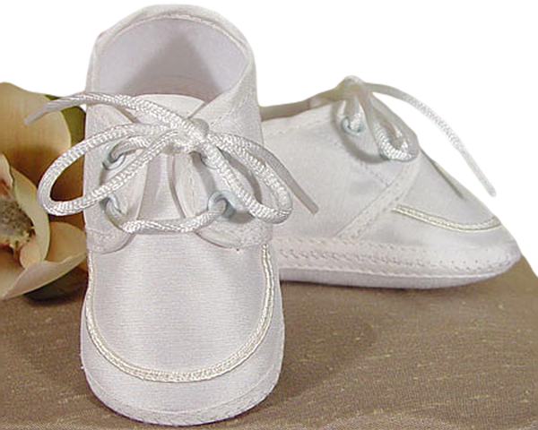 100% Silk Dupioni Off White Oxfords Dress Shoes Infant Boys (3SKBAS)