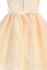 Girls Peach Dress w. Venice Lace Bodice & Tulle Skirt 3m-10