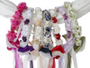 Silk Floral Wreath with Satin Back Ribbons & Bows Girls (HB007)