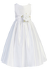 Poly Silk First Holy Communion Dress Organza Sash in White or Ivory (304HC)