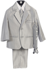 Silver Grey Metallic 6 Pc Formal Dress Suit Boys (3800)