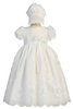 Flower & Vine Embroidered Organza Christening Dress (Samantha)