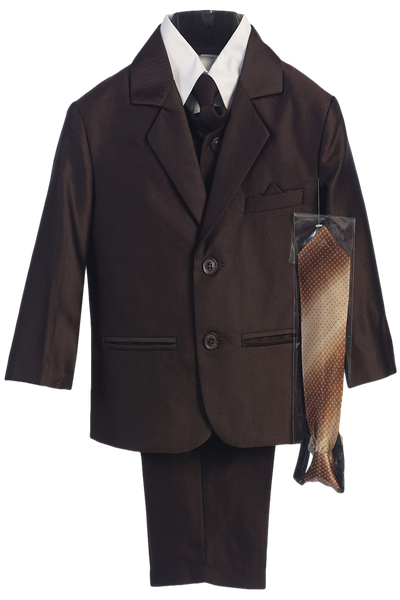 Brown Herringbone Weave Complete Dress Suit Boys (3805)