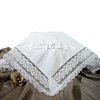 Cluny Lace & Cotton Batiste Handmade Blanket Baby Girls (CAC25BK)